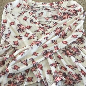 Nordstrom Lush Brand Floral Top
